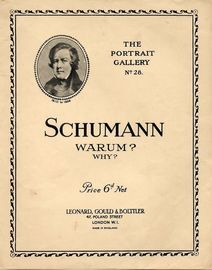 Schumann - Warum? (Why?) - Piano Solo - Op. 12 - No. 3 - The Portrait Gallery No. 28