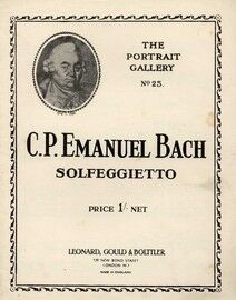 Solfeggietto - Piano Solo - The Portrait Gallery No. 25