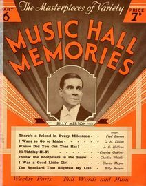 The Masterpieces of Variety, Music Hall Memories,  Part 6 - Billy Merson