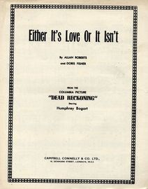 Either Its Love or it Isn't - From the Columbia Picture