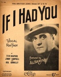 If I Had You - Vocal Fox Trot - The British Song Rage of the USA featuring Al Shayne