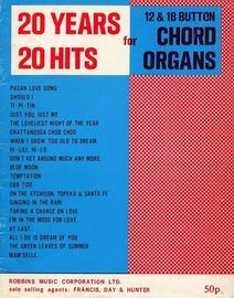 20 years 20 hits - For 12 & 18 Button Chord Organs