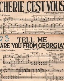 DANCE MUSIC with Vocals:- (a) Tell Me, Are You From Georgia?- Song Fox-Trot  (b) Cherie C'est Vous- Song Fox-Trot