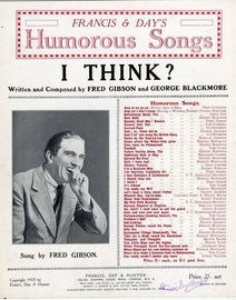 I Think? - Humorous song