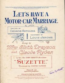 Lets Have a Motor-Car Marriage - Key of F