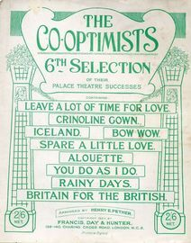 The Co-Optimists - 6th Selection of their Palace Theatre Successes
