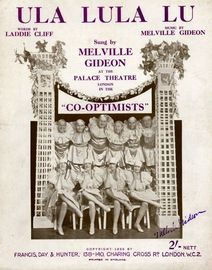 Ula Lula Lu - From the Revue \'Co-optimists\'
