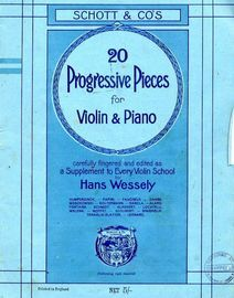 20 Progressive Pieces for Violin & Piano - Vol. II- Carefully fingered and edited as a Supplement to Every Violin School