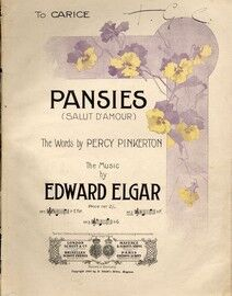 Pansies - Song - Based on Elgar's Salut D'Amour - Key of F major for High Voice