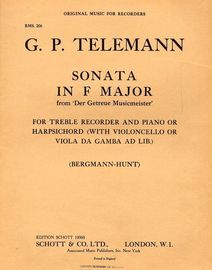 Sonata in F major from