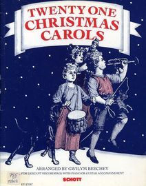 Twenty One Christmas Carols - for descant Recorder(s) with piano or Guitar Accompaniment