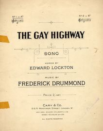 The Gay Highway - Song -  In the key of A flat major for Low Voice