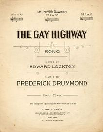 The Gay Highway - Song -  In the key of C major for High Voice