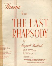 Theme from The Last Rhapsody - Theme for piano from the radio feature