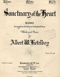 Sanctuary of the Heart - Song Arranged on the Famous Orchestral Piece - Key of F major for Low Voice