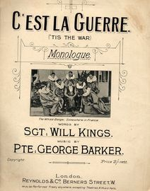 C'est la Guerre ('Tis the War), Monologue