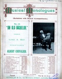 Musical Monologues No. 18  - An Old Bachelor - Featuring Albert Chevalier