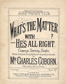 What's the Matter With_________? He's All Right - Comical topical song