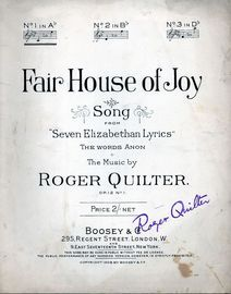 Fair House of Joy - Song from