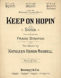 Keep On Hopin\' - Song - In the key of F major for high voice