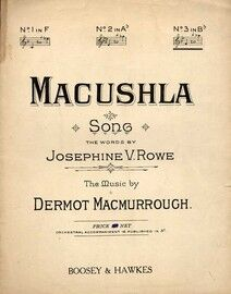 Macushla - Key of B flat major for high voice