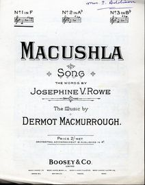 Macushla - Key of F for low voice