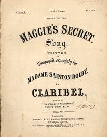 Maggie's Secret - Song in the key of D Major for Low Voice