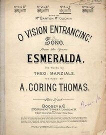 O Vision Entrancing!  -  Song from the Opera