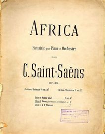 Africa - Fantaisie for Piano and Orchestra - Orchestra Part Reduced to 2nd Piano