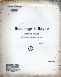 Hommage a Haydn (Centaire D'Haydn) - Pour le Piano