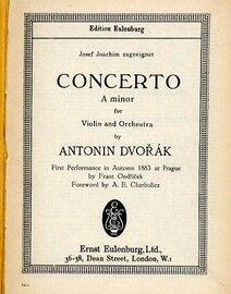 Concerto for Violin and Orchestra in A Minor - Miniature Orchestra Score