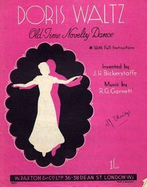 Doris Waltz - Old Time Novelty Dance with Instructions invented by J H Bickerstaffe