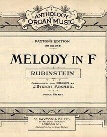 Rubinstein - Melody in F for Organ