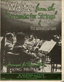 Waltz from the Serenade for Strings - For piano solo