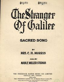 The Stranger of Galilee - Song in the key of E flat major for Low voice