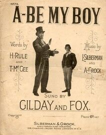 A Be My Boy as performed by  Daisy Wood - A Grock
