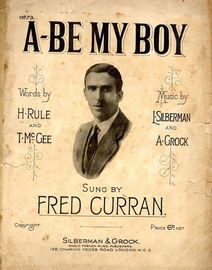 A Be My Boy as performed by  Fred Curran
