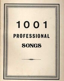 1001 Professional Songs - Melody with Words and Chord Symbols