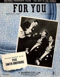 For You - As performed by The Five Smith Brothers