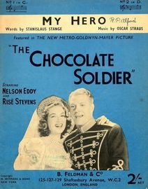 My Hero from the 'The Chocolate Soldier' - Key of C major for Low voice - Featuring Nelson Eddy and Rise Stevens