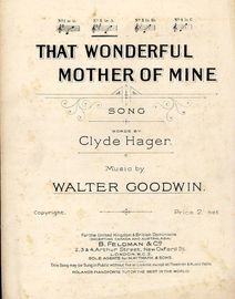 That Wonderful Mother of Mine - Song in the key of A major