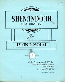 Shenandoah - Sea Chanty for Piano Solo