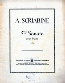 5me Sonate - Pour Piano - Op. 53