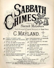 From Greenland's Icy Mountains and Ye Servants of God - Sabbath Chimes Series of Sacred Melodies No. 7