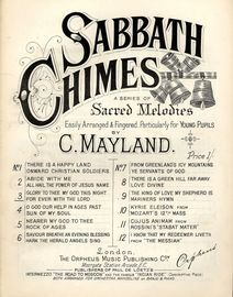 Glory to Thee my God this Night and For ever with the Lord - Sabbath Chimes Series of Sacred Melodies No. 3