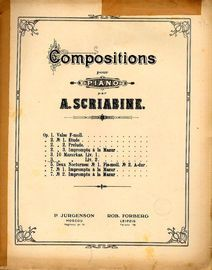 Compositions pour Piano - Opus 3 - 10 Mazurkas - Book II