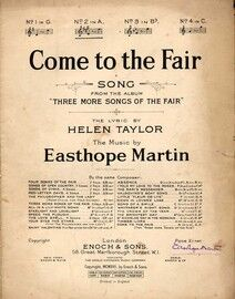 Come to the Fair  - Song -