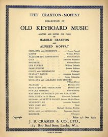 Gavot - The Craxton-Moffat collection of Old Keyboard Music adapted and edited for Piano