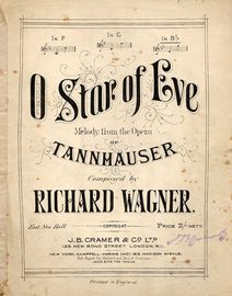 O Star of Eve from Tannhauser - Piano Solo