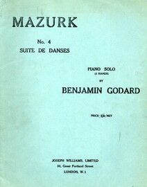 Godard - Mazurka - For Piano - Op. 25